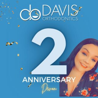 Last week Devon celebrated 2 years (9/1) with us here at Davis Orthodontics! Happy Anniversary, Devon! Our office wouldn't have nearly as much fun and laughs without you! #DObraces #WorkAnniversary #HappyAnniversary #WeLoveOurStaff