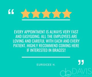 Some more great 5-star reviews from several happy, satisfied patients. We love our DO family and thank you so much for the kind words Euridicee, Athena, and Leanna! #DObraces #SmileOn #HappyClients #HappyPatients #5starreview⭐️