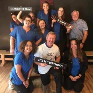 We've started celebrating Dr. Davis' 50th birthday early! The team participated in two escape rooms at the Escape Plan, and we made it! Be sure to wish him happy birthday today, tomorrow, Friday, but most importantly this Saturday! #DObraces #fiftyisnifty #HappyBirthday #EscapeRoom #weescaped