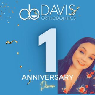 Last week Devon celebrated 1 year (9/1) with us here at Davis Orthodontics! Happy Anniversary, Devon! Our office wouldn't have nearly as much fun and laughs without you! #DObraces #WorkAnniversary #HappyAnniversary #WeLoveOurStaff
